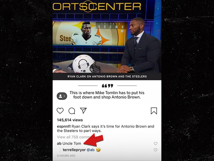 Antonio Brown Calls Ryan Clark 'Uncle Tom' Over Steelers