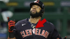 Cleveland's Carlos Santana Wears Banned 'Chief Wahoo' Gear During Game