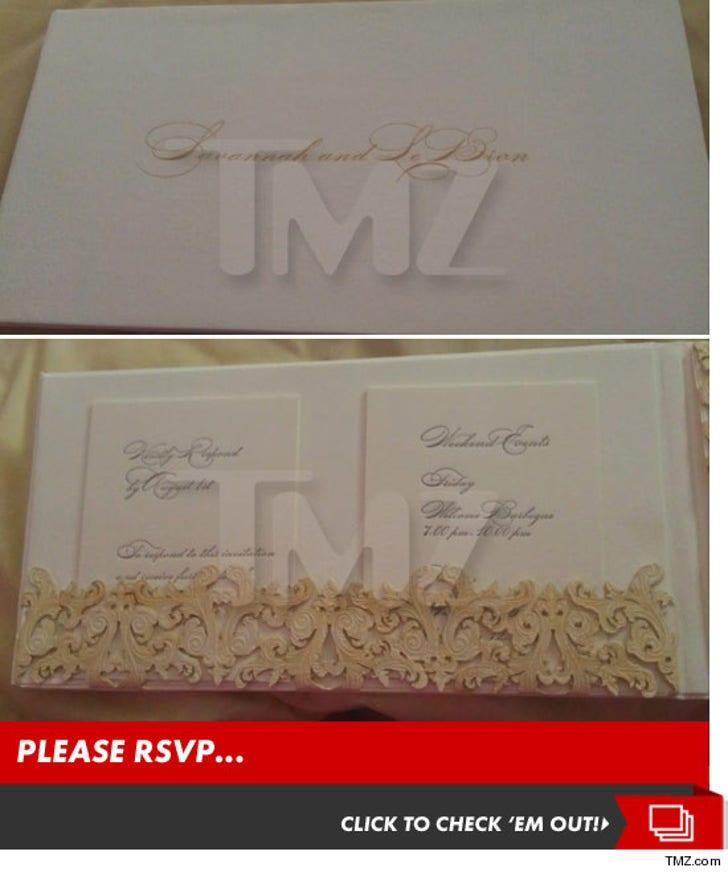 LeBron and Savannah's Wedding Invites