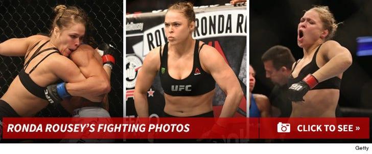 Ronda Rousey -- Fighting Photos