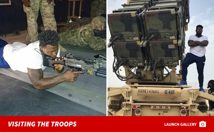 NFL's Delanie Walker Visits Troops on USO Tour