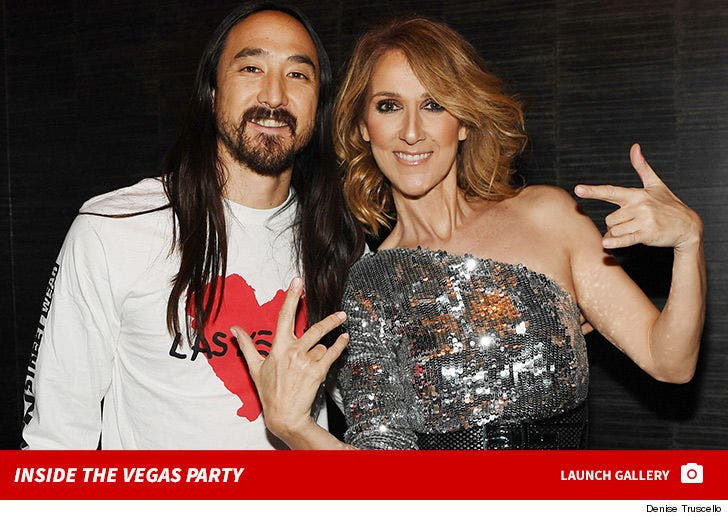 Steve Aoki and Celine Dion -- Inside the Charity Event