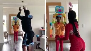 Dwyane Wade and Gabrielle Union Have Quarantine Hoops Shootout