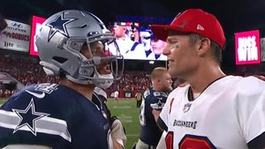 Dak Prescott Tells Tom Brady Cowboys Will Rematch Bucs In Playoffs, Hot Mic Reveals