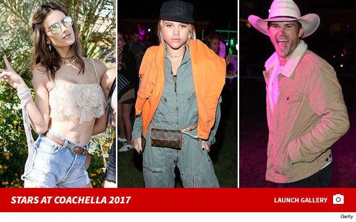 Celebrities at Coachella - Day 1