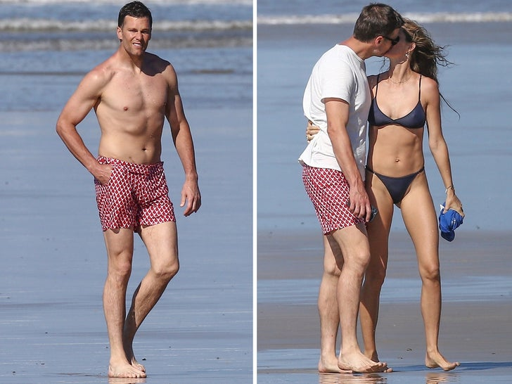 Tom and Gisele -- Heat Up Costa Rica Shores