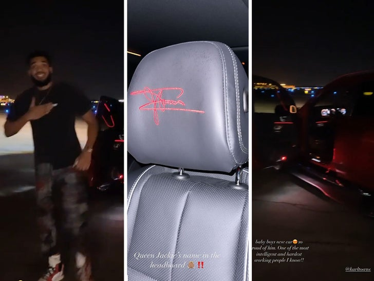 Karl-Anthony Towns Gets Late Mother's Signature Stitched On Headrests Of New Maybach.jpg
