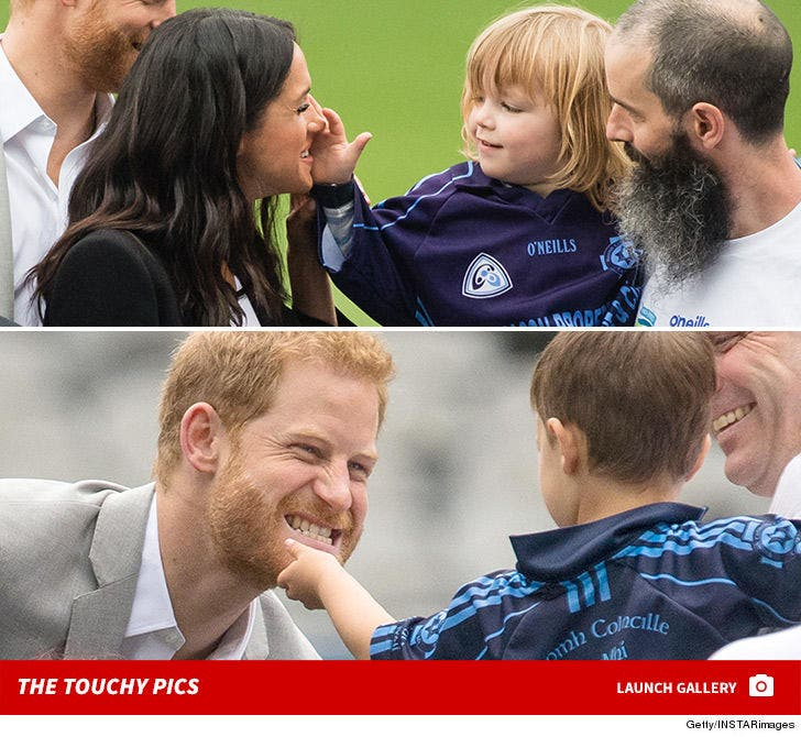 Meghan and Prince Harry -- Getting Handsy in Ireland