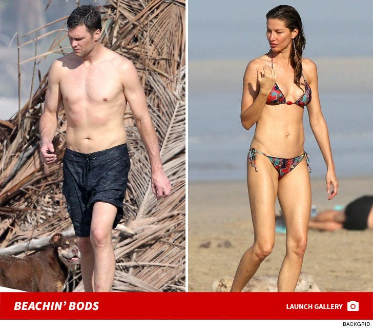 Tom Brady and Gisele Bundchen -- Beach Bods In Costa Rica