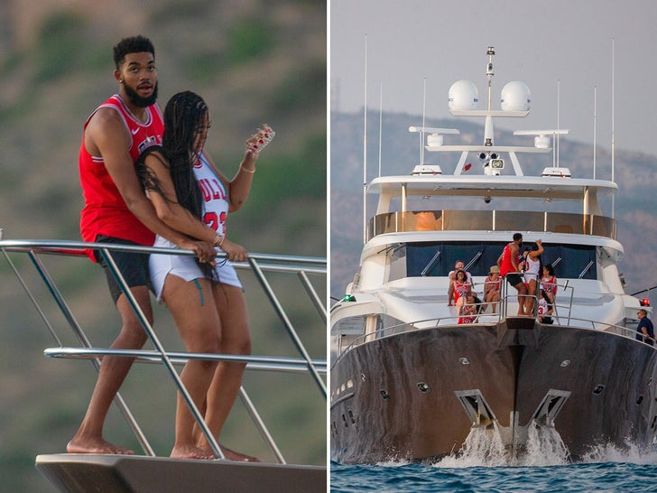 Karl-Anthony Towns and Jordyn Woods -- Yachts Of Fun In Cabo