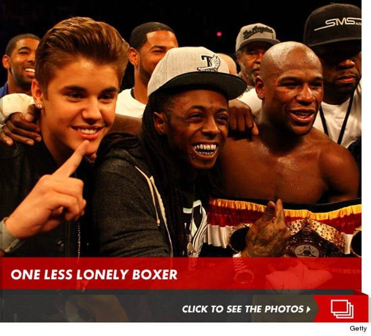 Justin Bieber at the Floyd Mayweather Fight
