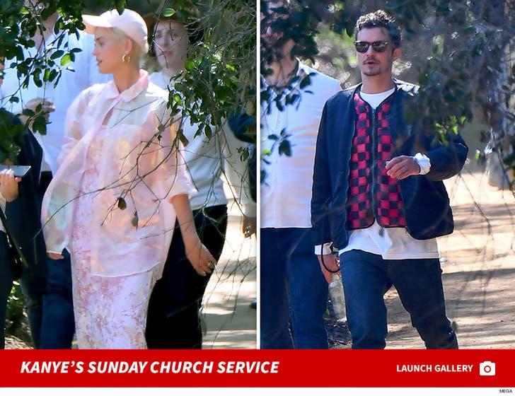 Celebs at Kanye West's Sunday Church Service