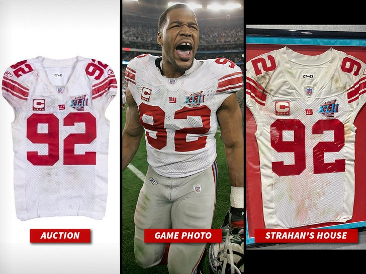 Two Michael Strahan Super Bowl 42 Jerseys Surface, War Raging Over ...