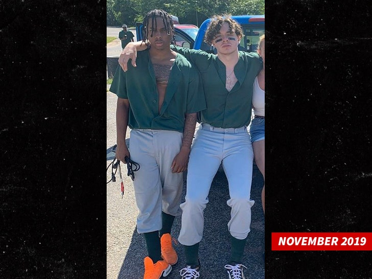 Jack Harlow with Ronnie Lucciano in November 2019