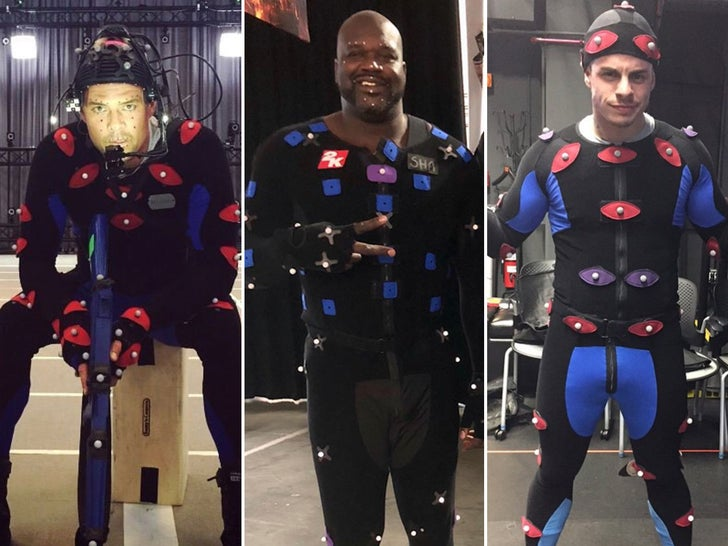 Celebrity Motion Capture -- Get In The Game!