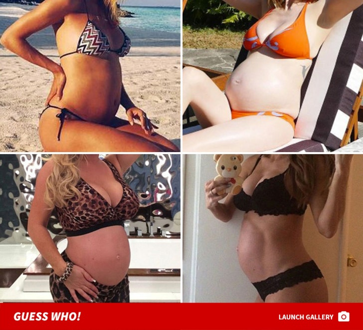 Belly-Baring Pregnant Babes -- Guess Who!