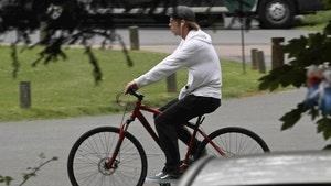 Brad Pitt Riding His Bike After Angelina Jolie Custody Battle