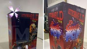 Travis Scott Nabs $50k Custom Vending Machine with Hologram