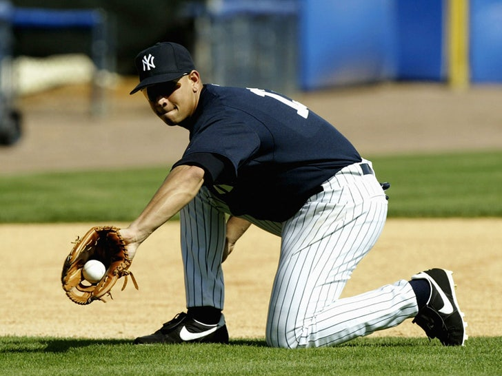 Alex Rodriguez On The Field