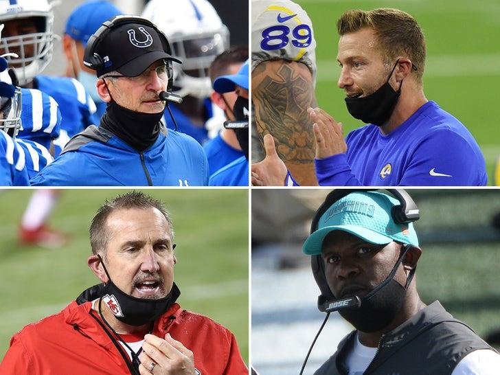 NFL Coaches Wearing Masks Improperly