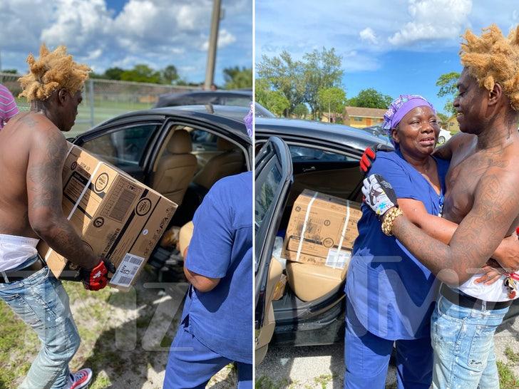 kodak black donating AC Units