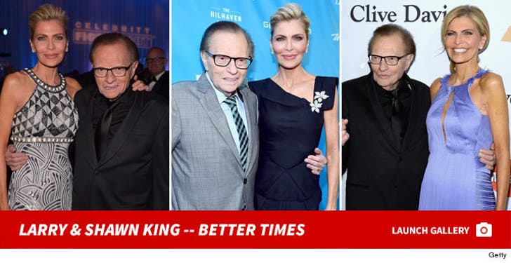 Larry King and Shawn King -- Together Photos