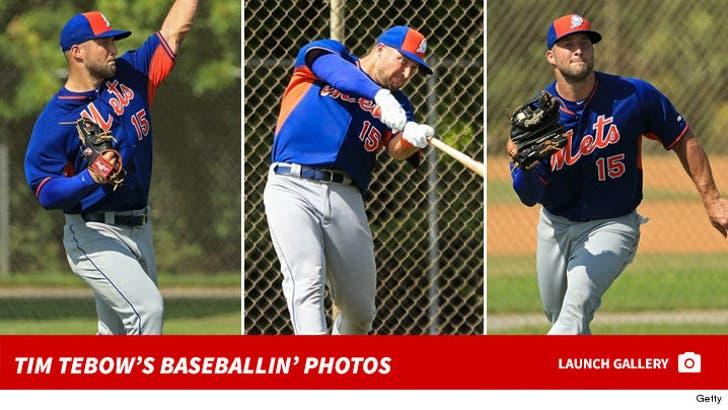 Tim Tebow -- Baseballin' Photos
