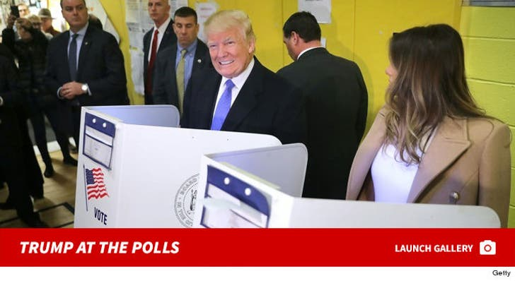Donald Trump -- Casting His Vote on Election Day