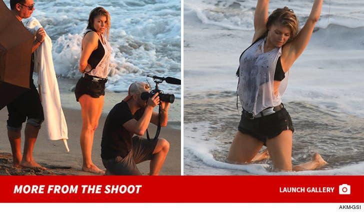 Fergie Photoshoot on the Beach
