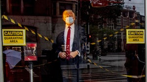 President Trump's Wax Figure Put in Quarantine