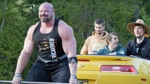 Strongman Brian Shaw Deadlifts 4,000-Pound Camaro TEN Times!