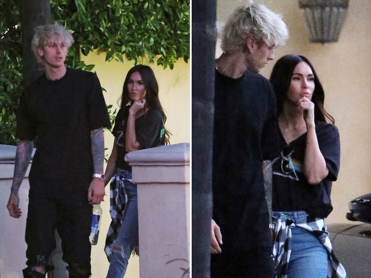 MGK and Megan Fox All Cozy and Close