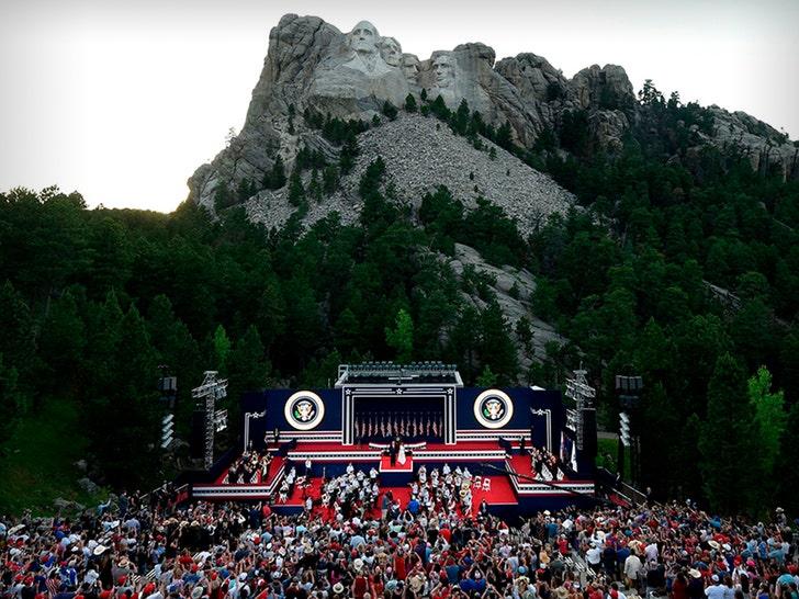 Donald Trump's Mount Rushmore Rally