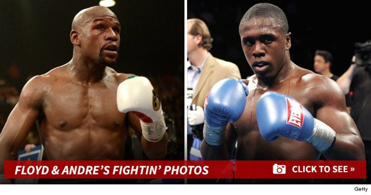 Floyd Mayweather & Andre Berto's Fightin' Photos