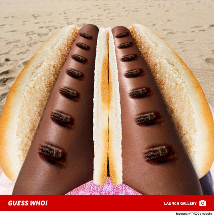 Grilled Celebrity Hot Dog Legs -- Guess Whose!