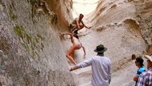 S.I. Swimsuit Model -- Rock Climbing In a Thong ... For Insane Shoot
