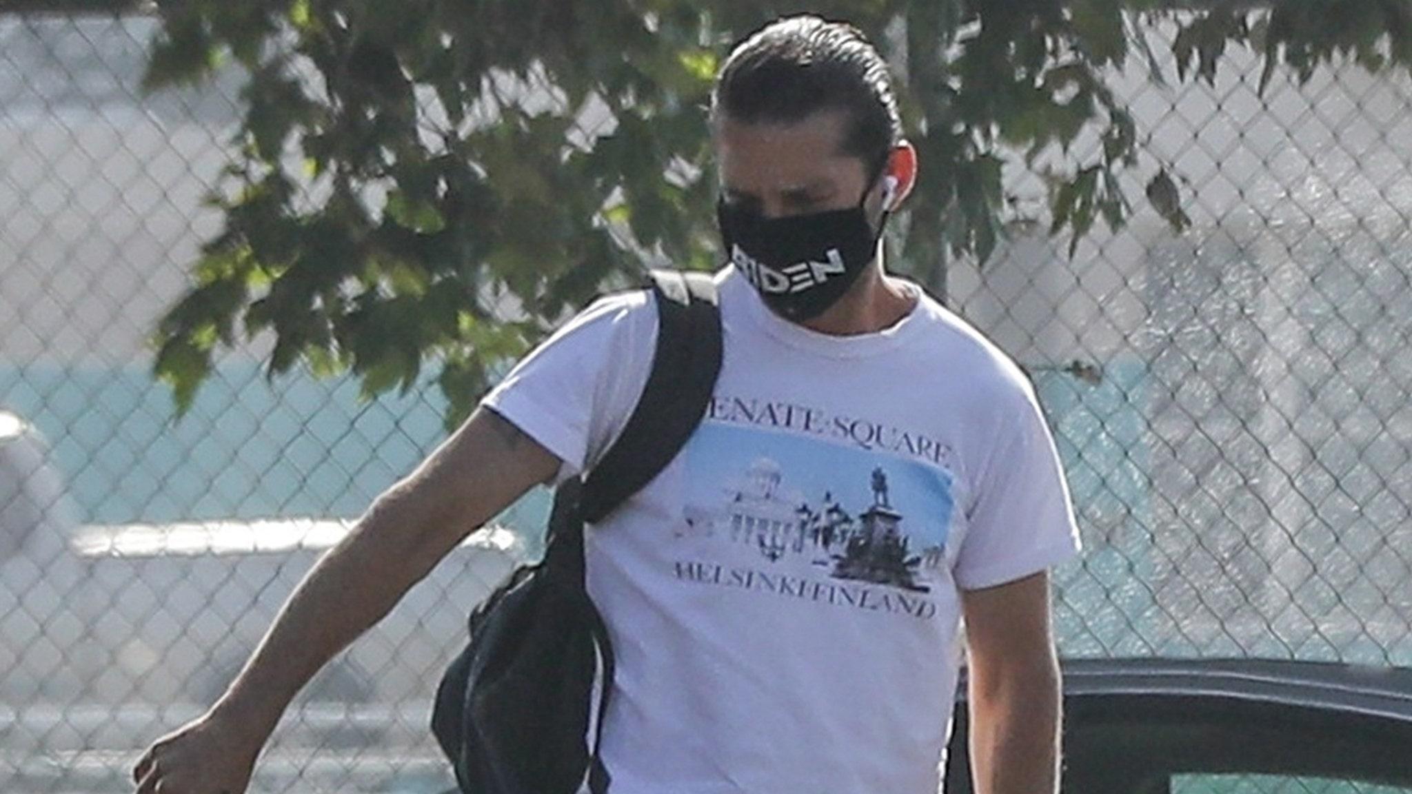 Shia LaBeouf Riding for Biden ... Masks Getting Even More Political!!!