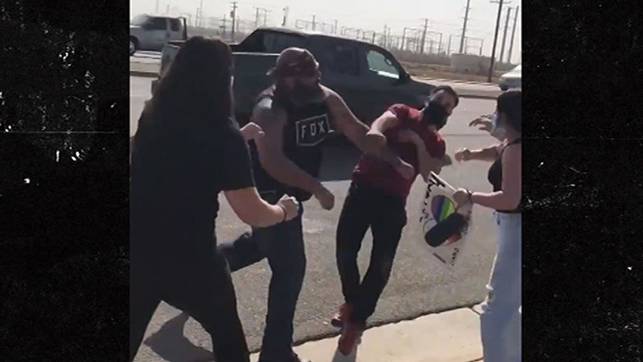 MAGA Supporter Goes Wild on BLM Protesters