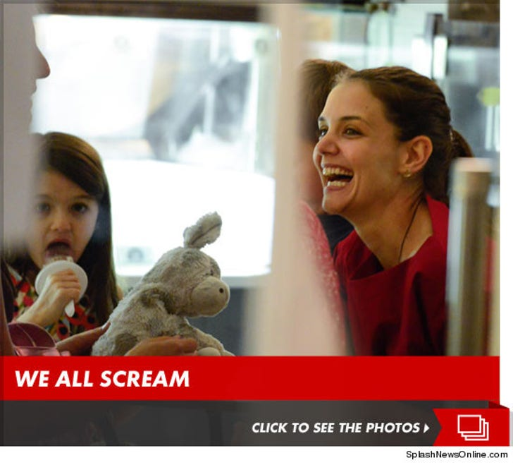 Katie Holmes Laughs Off Divorce Over Ice Cream