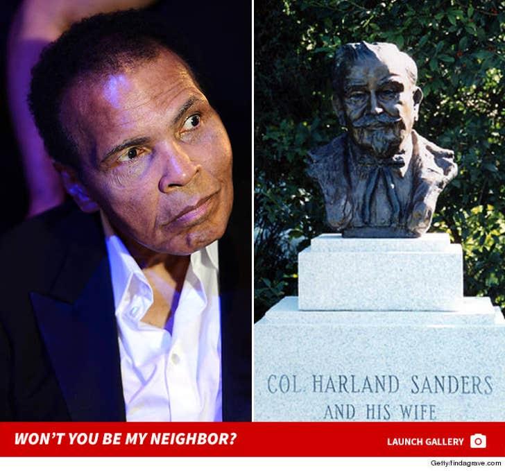 Muhammad Ali's Cemetery Neighbors
