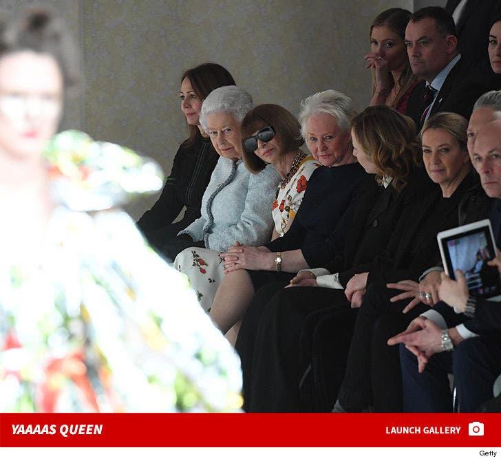 Queen Elizabeth at London Fashion Week