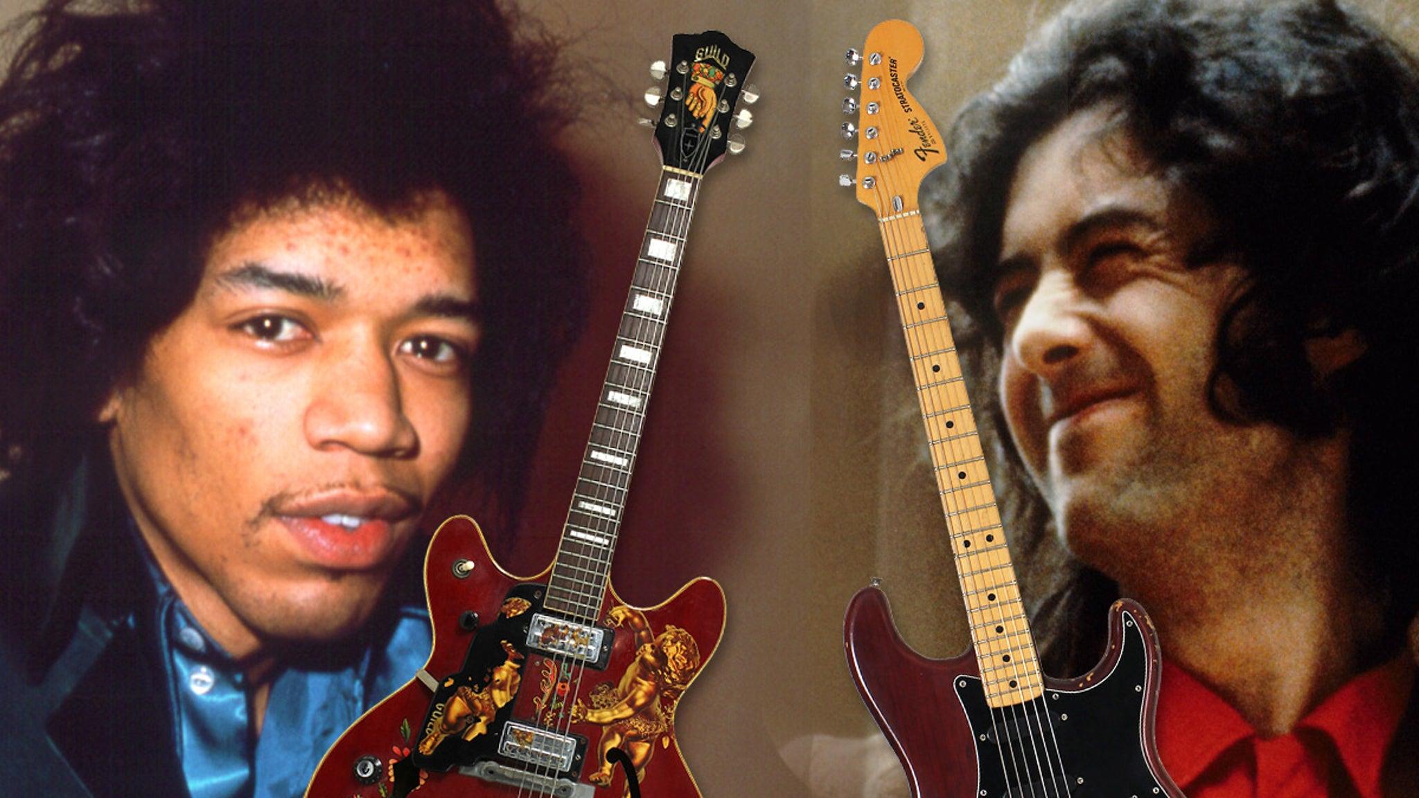Jimi Hendrix, Jimmy Page, Eric Clapton Guitars Hit Auction Block - EpicNews