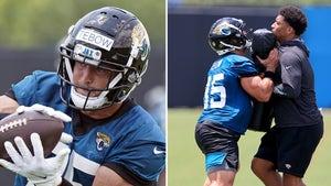 Tim Tebow Putting In Work at Jaguars Practice, Blocking & Catching Passes