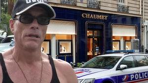 Jean-Claude Van Damme Inadvertently Distracts During Jewelry Heist in Paris