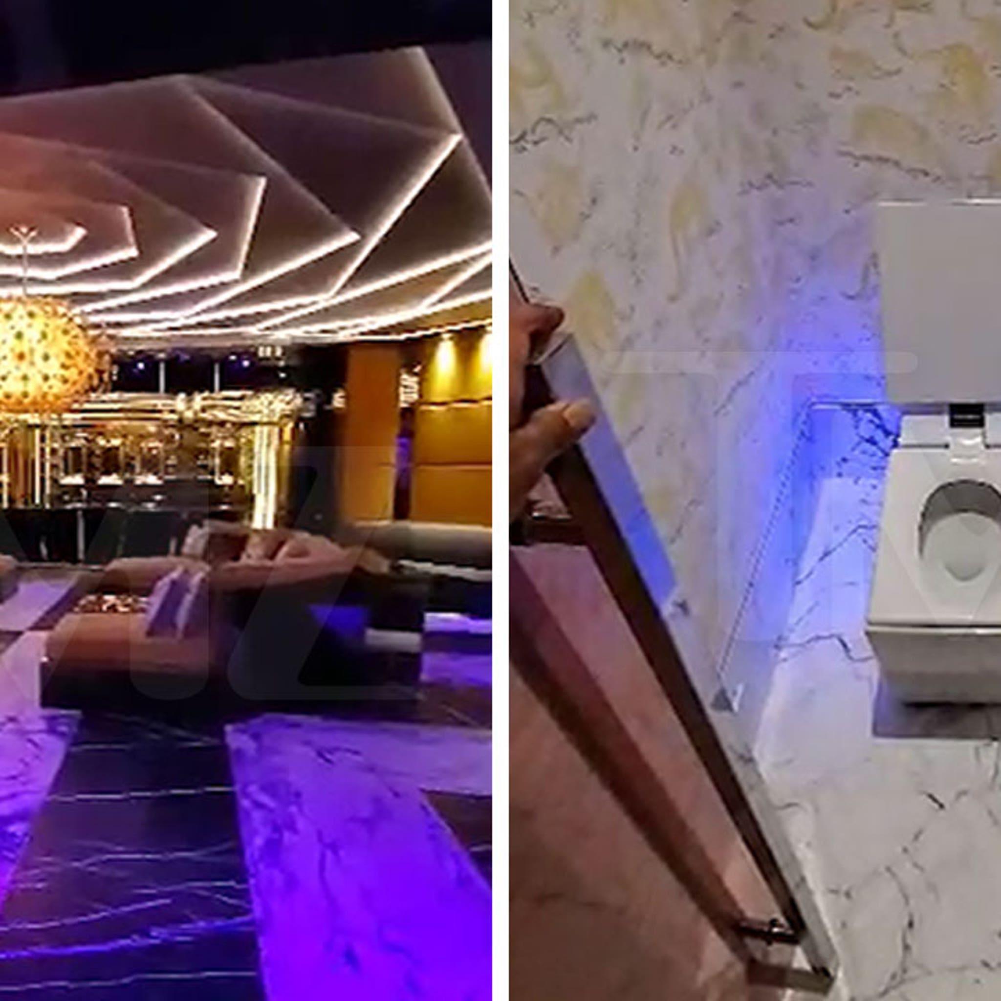 Inside Drake S Toronto Mansion Peep His Ovo Court Singing Toilet