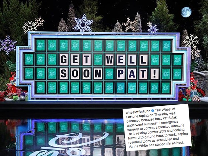 Pat Sajak has emergency surgery, Vanna White steps in as host