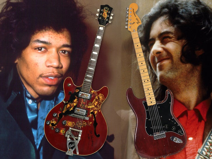 Classic Rock Guitars Hit Auction Block