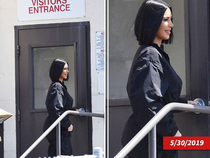 Kim Kardashian Outside San Quentin Prison