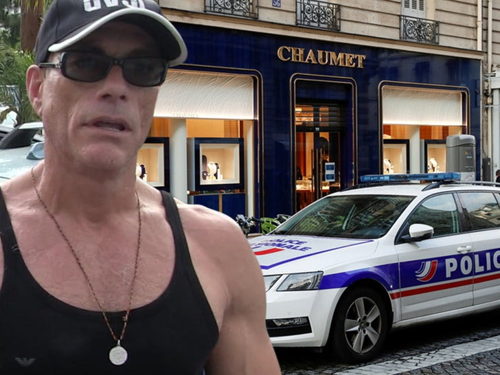 jean claude van damme Chaumet jewellers near the Champs-Elysees