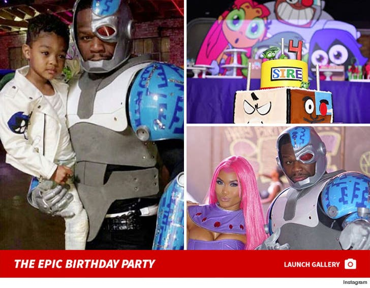 50 Cent and Daphne Joy - Sires 4th Birthday Bash